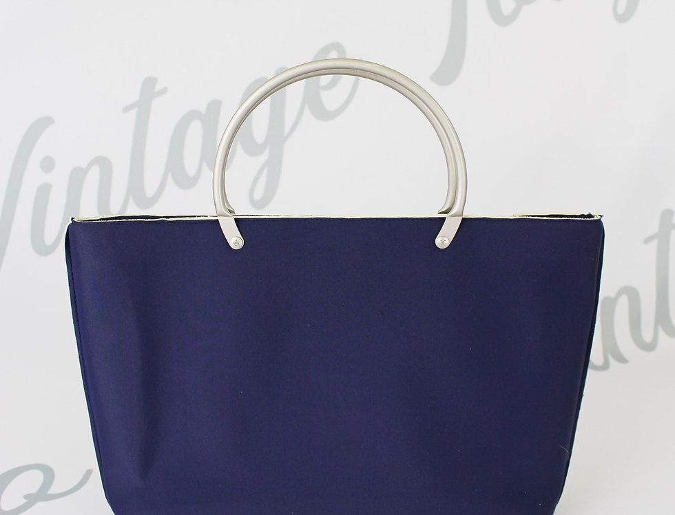 Chanel Neoprene Tote Bag Navy Blue