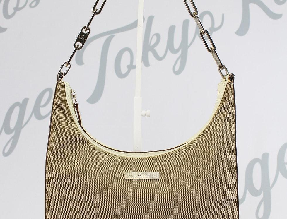 Gucci Canvas Leather Chain Strap Handbag