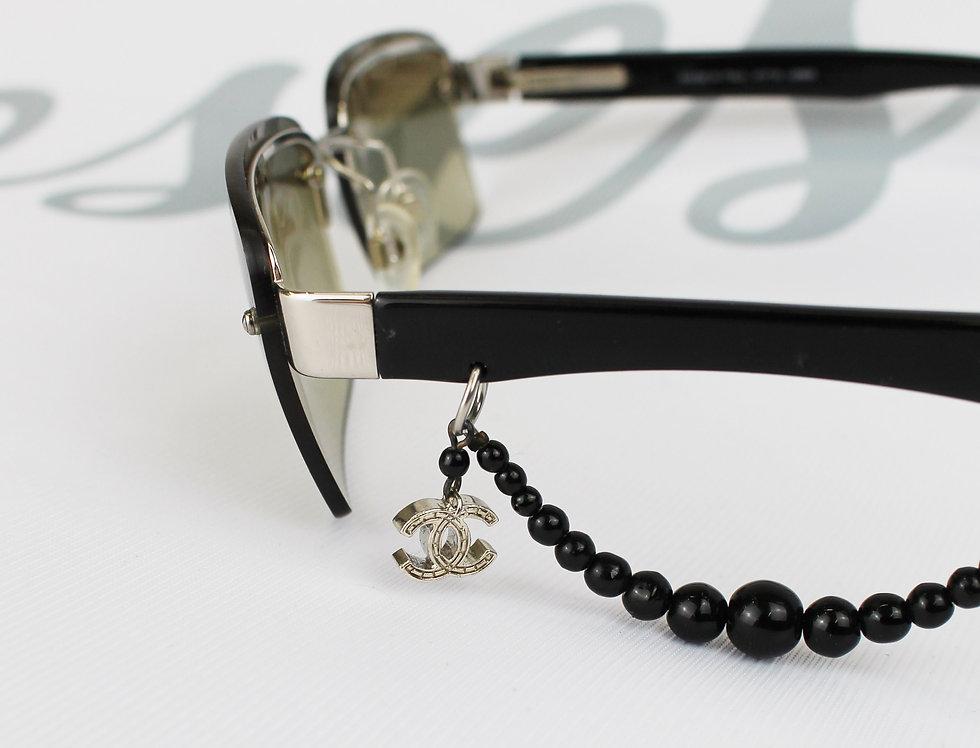 Chanel Brown CC Bead Charm Glasses