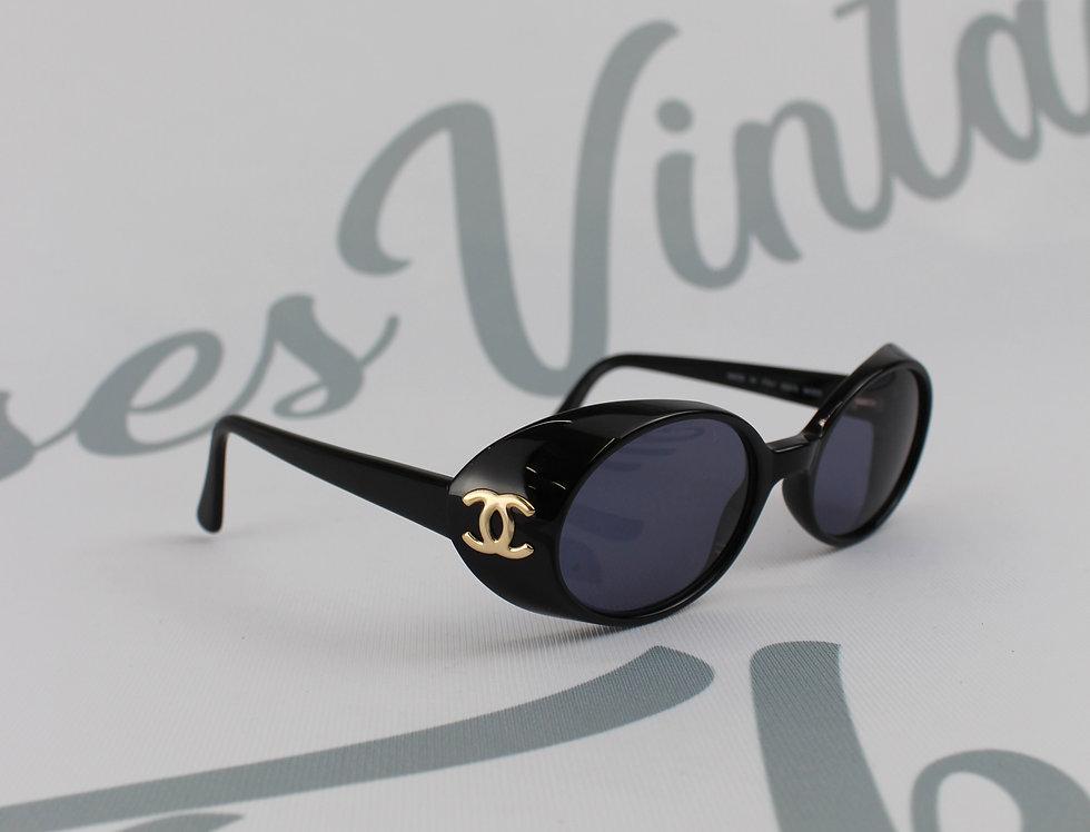 Chanel Black Sunglasses Side Panel CC Logo Glasses