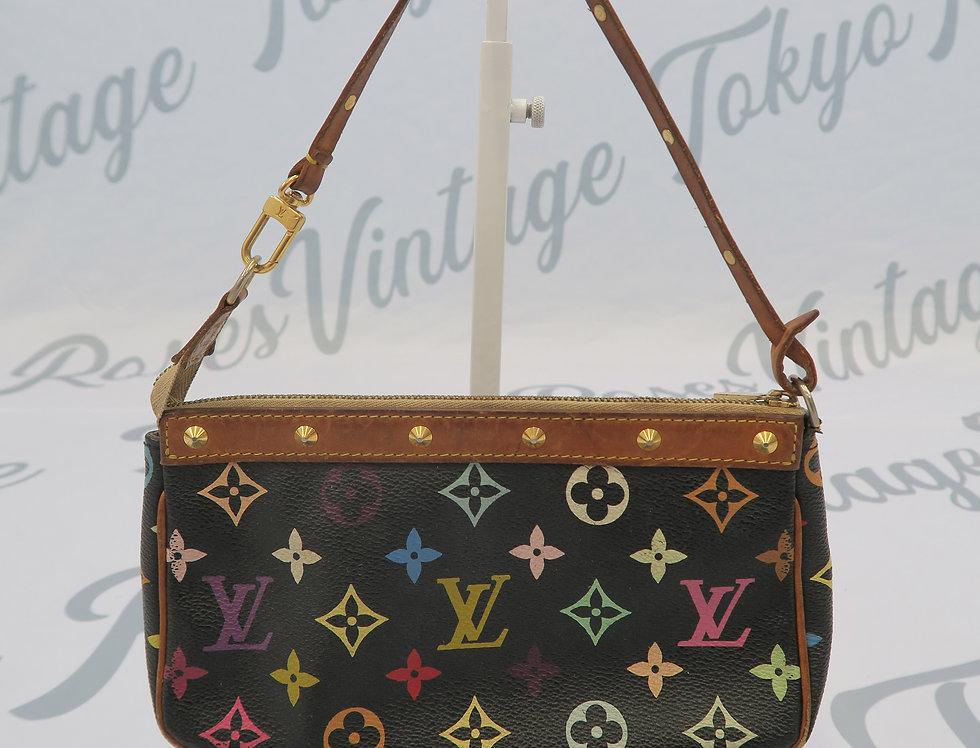 Louis Vuitton Black Multi Color Shoulder Bag Mini