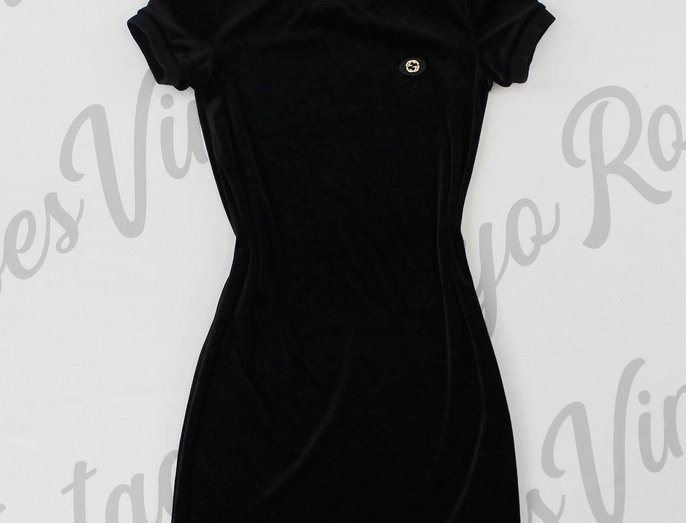 Gucci Velour Logo Chest Dress