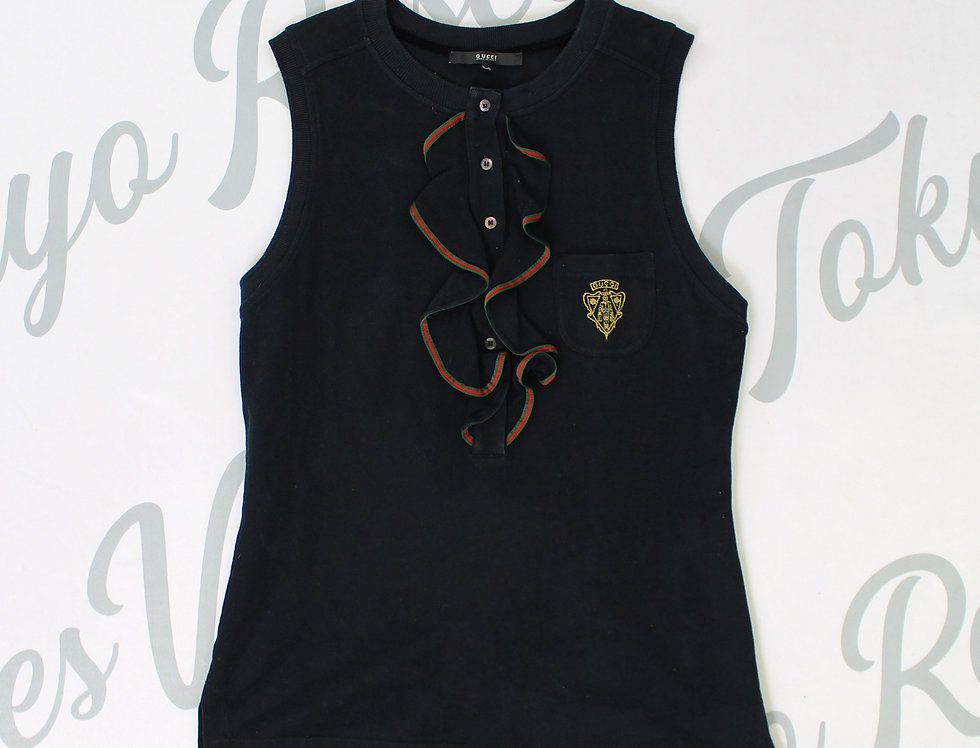 Vintage Gucci Sleeveless Polo Top