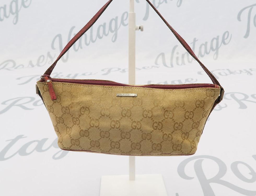 Gucci Mini Bag GG Monogram Logo Print Pink Details