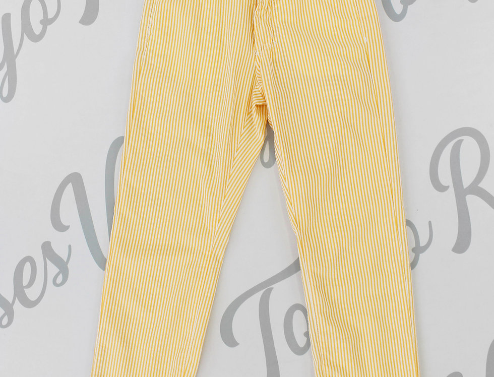 Versace Jeans Orange Stripe Pattern Long Pants