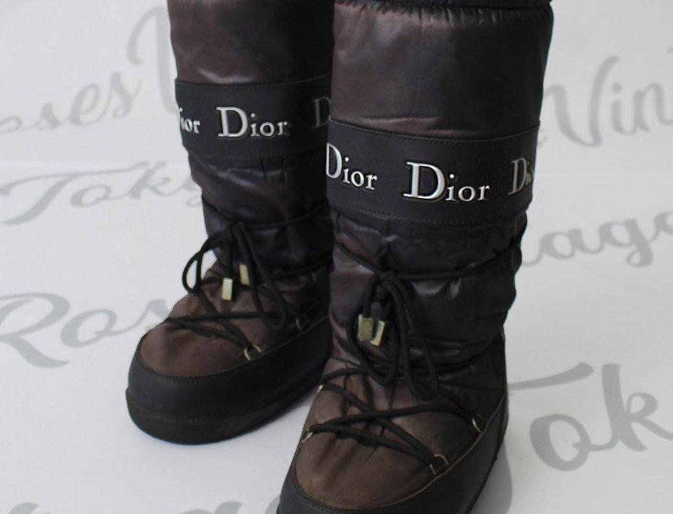 Christian Dior Black Snow Ski Boots