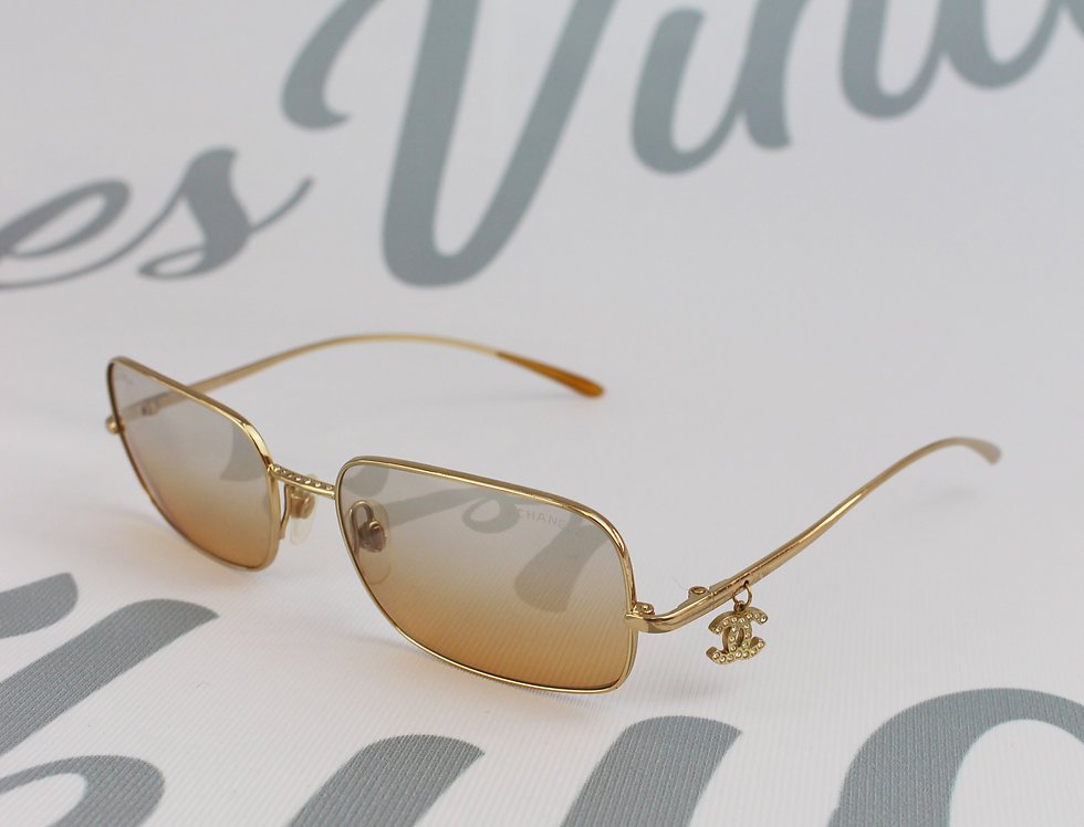 Gold Frame Chanel CC Charm Glasses