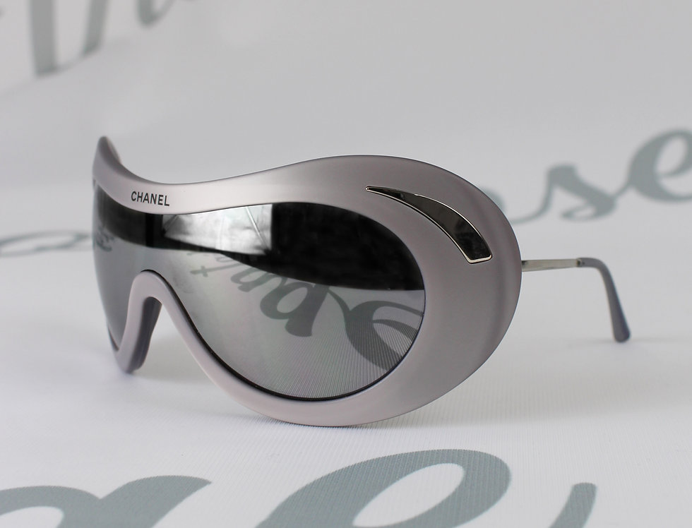 Rare Chanel Ski Glasses Silver Fall 2000 Sunglasses