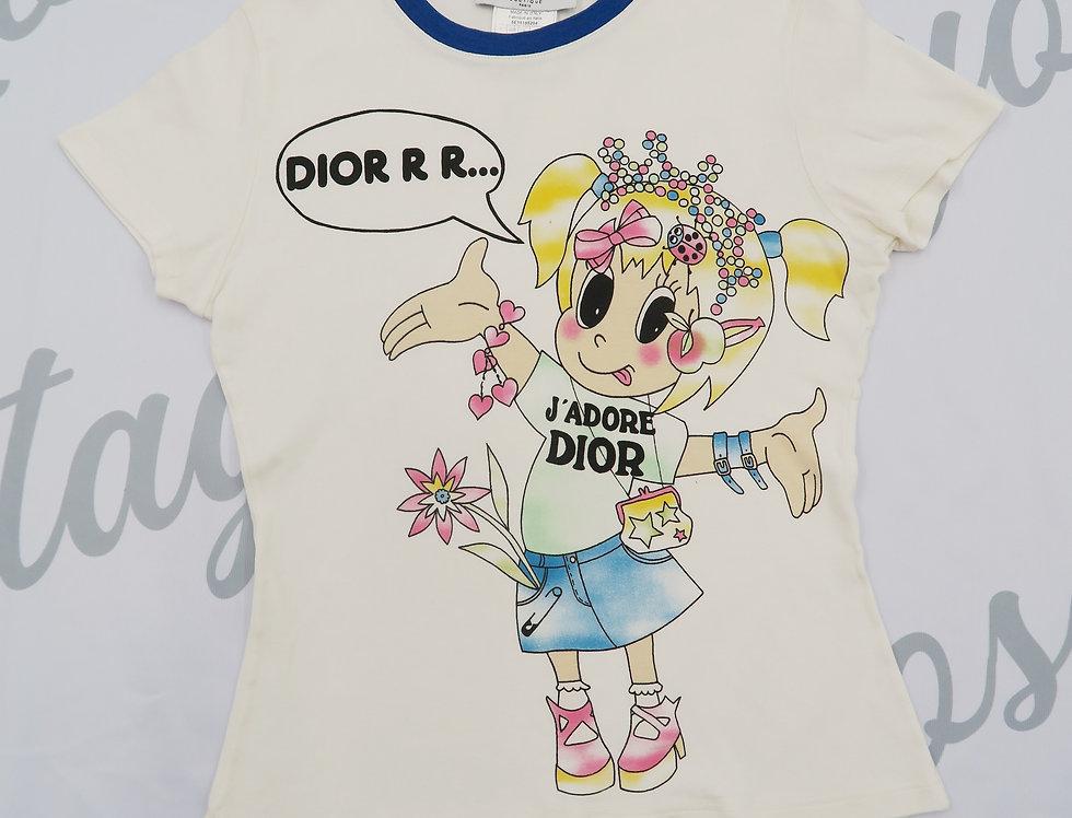 Christian Dior Cartoon J'adore Dior T Shirt Girl