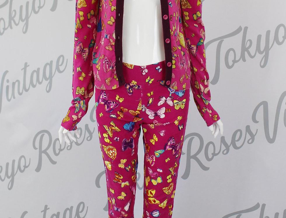 Vintage Dolce & Gabbana Butterfly Cardigan Pants SET