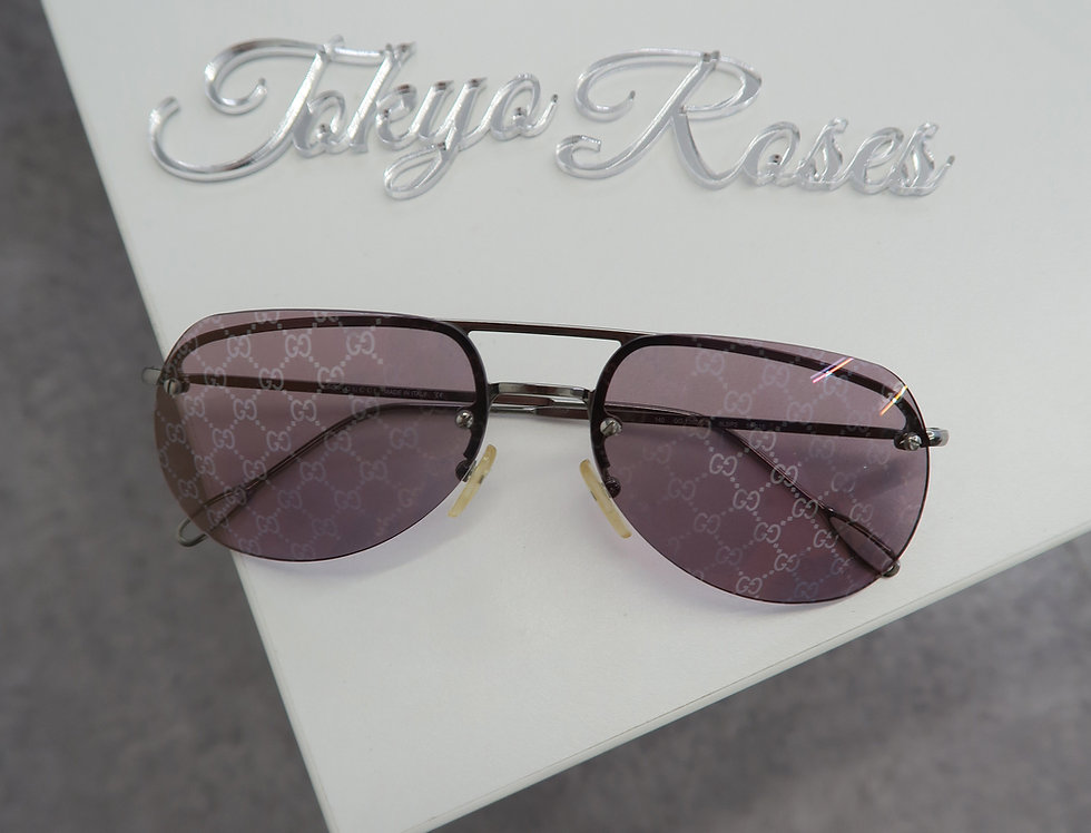 Gucci GG Monogram Aviator Glasses