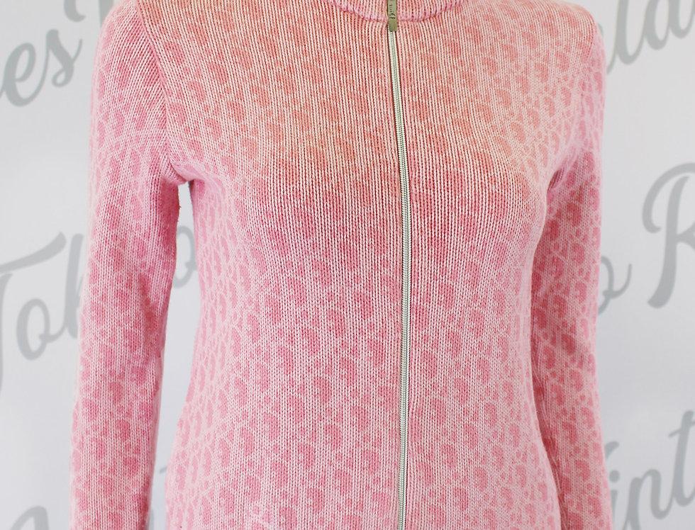 Pink Logo Monogram Christian Dior Zip Up Jacket