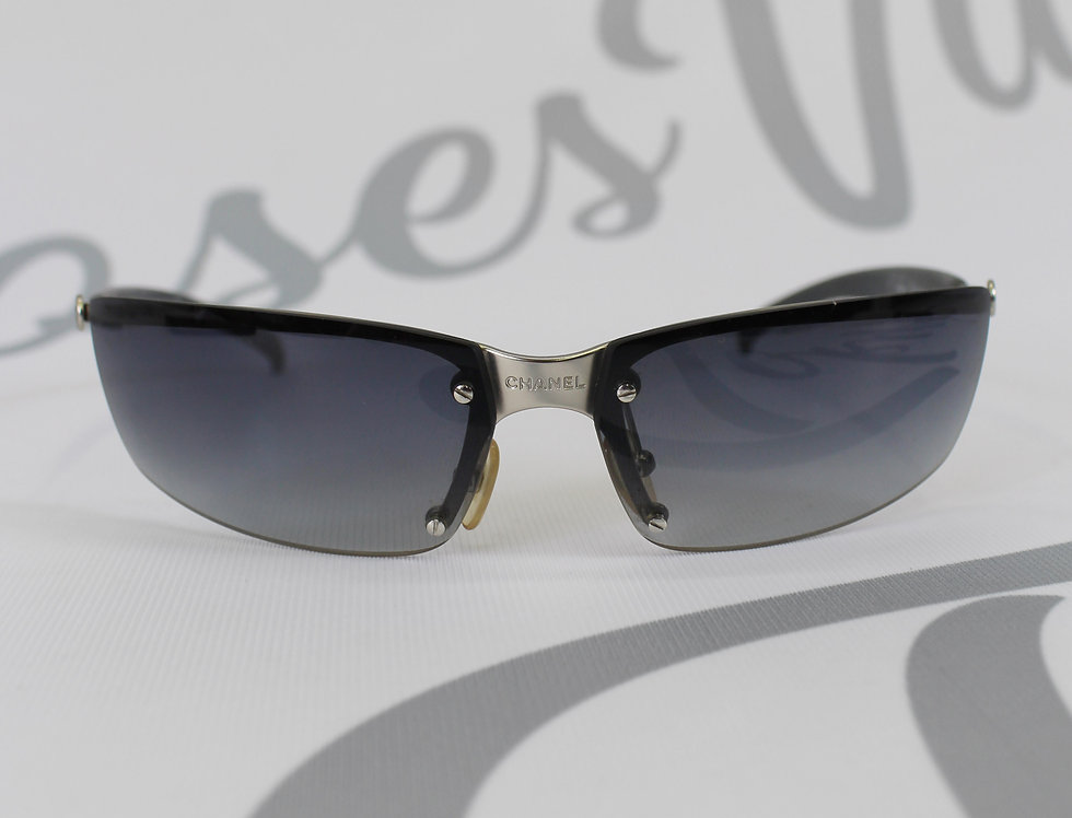 Dark Blue Chanel Sunglasses Center Logo Rare