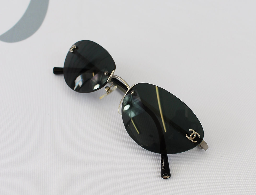Chanel Black Tinted Sunglasses Vintage Glasses R