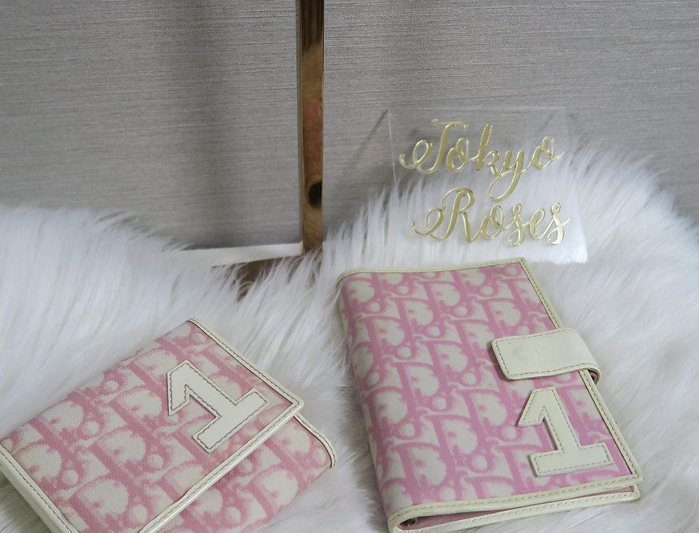 Christian Dior Pink Trotter Wallet & Notebook Set