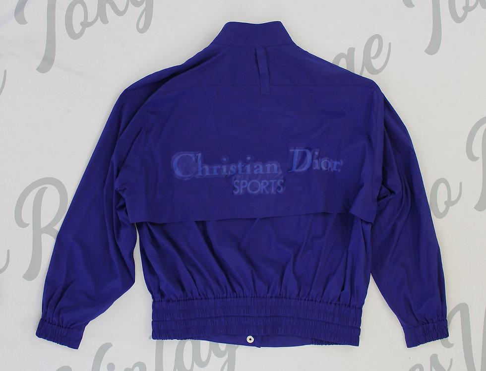 Christian Dior Sports Blue Windbreaker Jacket Nylon