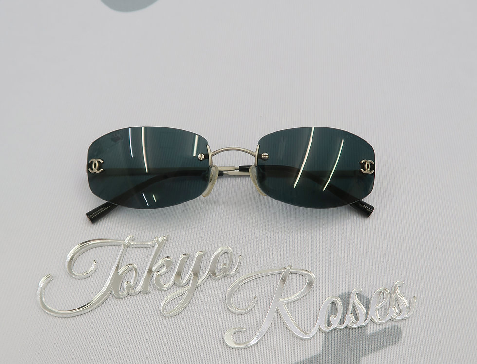 Chanel Black Tinted Sunglasses Vintage Glasses