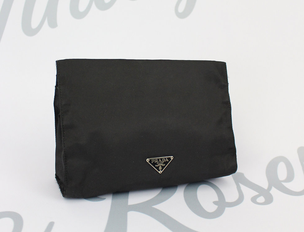 Vintage Prada Nylon Clutch Black