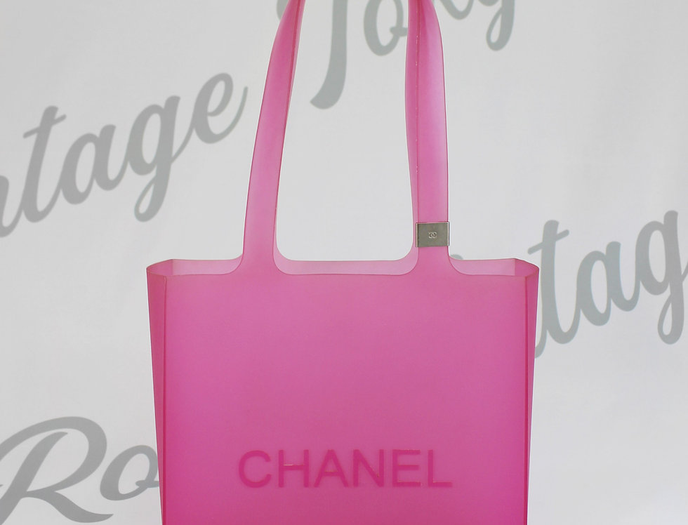 Chanel Pink Rubber Tote Bag