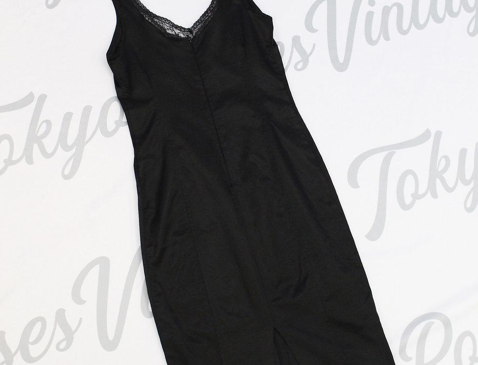 Dolce & Gabbana D&G Black Satin Bodycon Dress Sleeveless