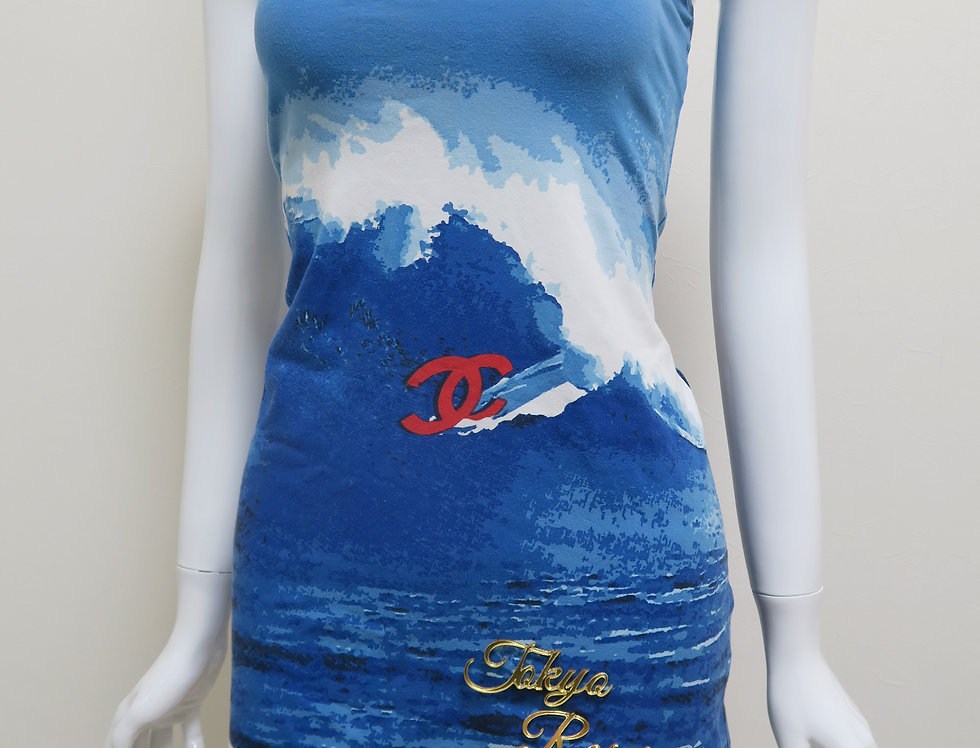 Chanel Surf Line Sleeveless One Piece Cami Dress
