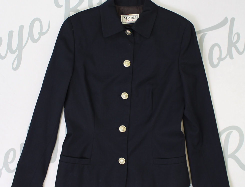 Versace Sport Medusa Logo Button Jacket Suit Blazer