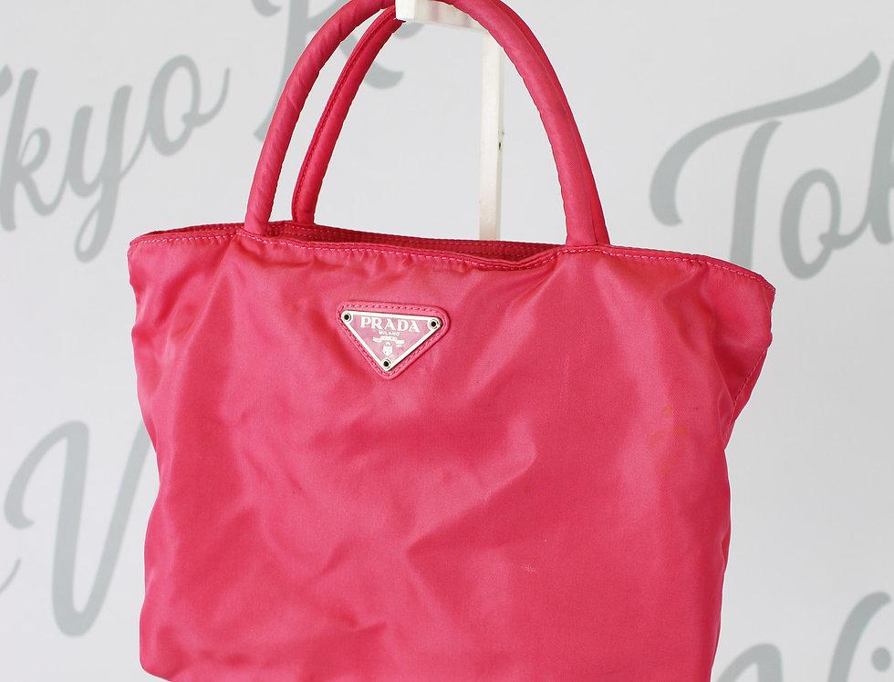 Vintage Prada Pink Small Nylon Tote Bag Handbag