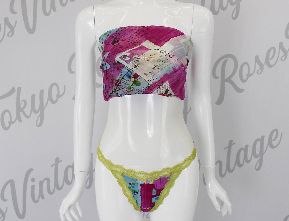 """Christian Dior 2003 """"Filth"""" Scarf & Underwear Briefs Set"""