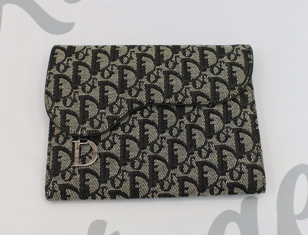 Christian Dior Large Agenda Notebook Canvas Trotter Oblique Pattern