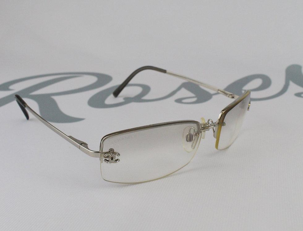 Vintage ClearTinted Sunglasses Rhinestone Glasses S