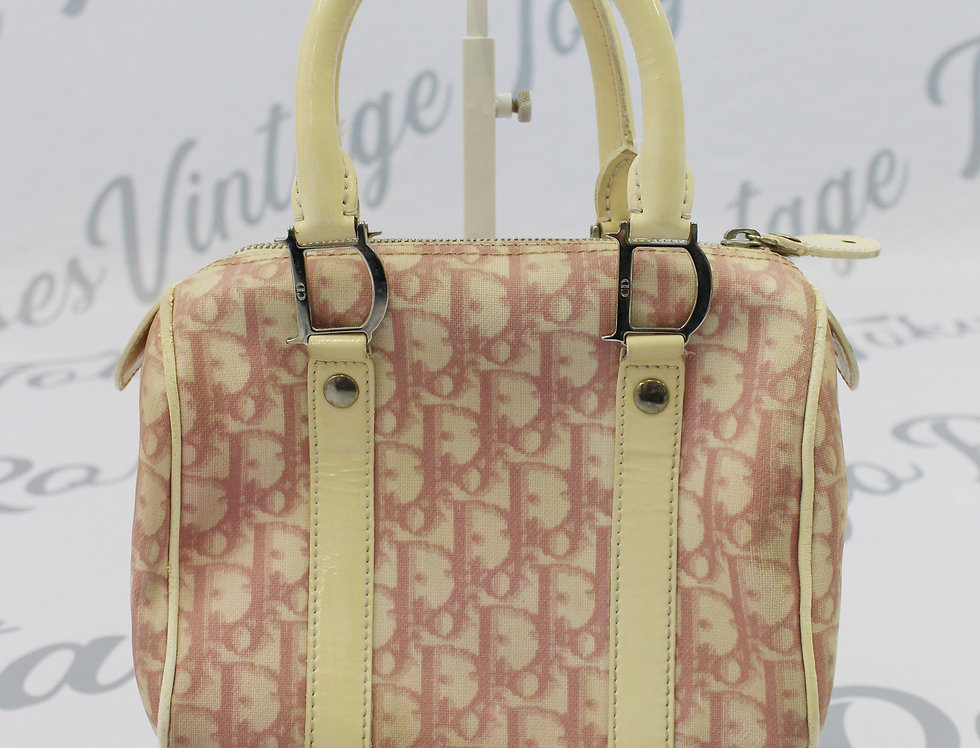 Christian Dior Mini Boston Bag Pink Trotter Oblique Monogram Print