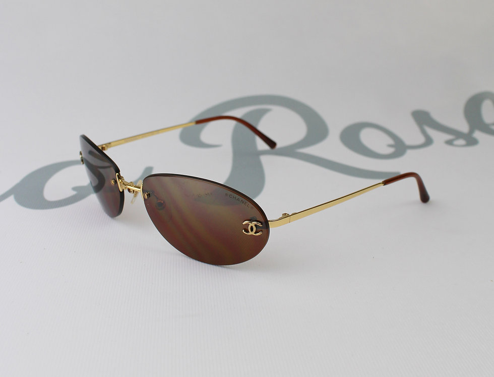 Chanel Brown Tinted Sunglasses Vintage Glasses R