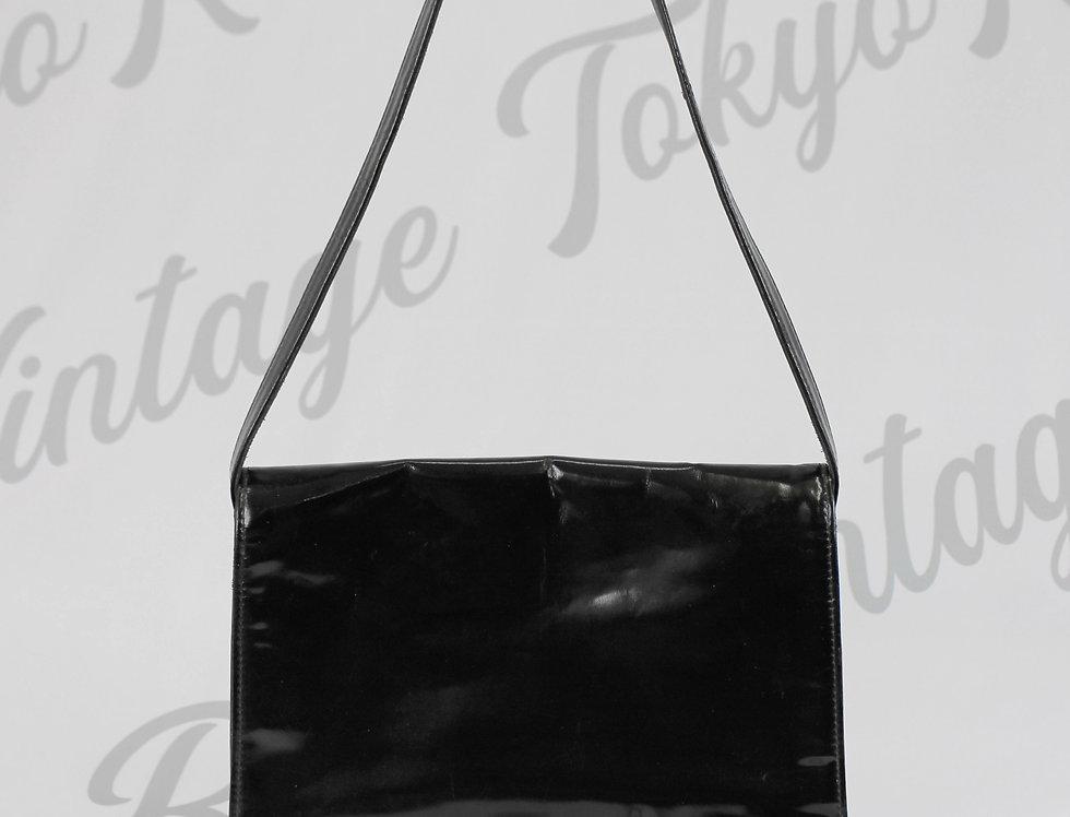 Chanel Patent CC Logo Shoulder Bag
