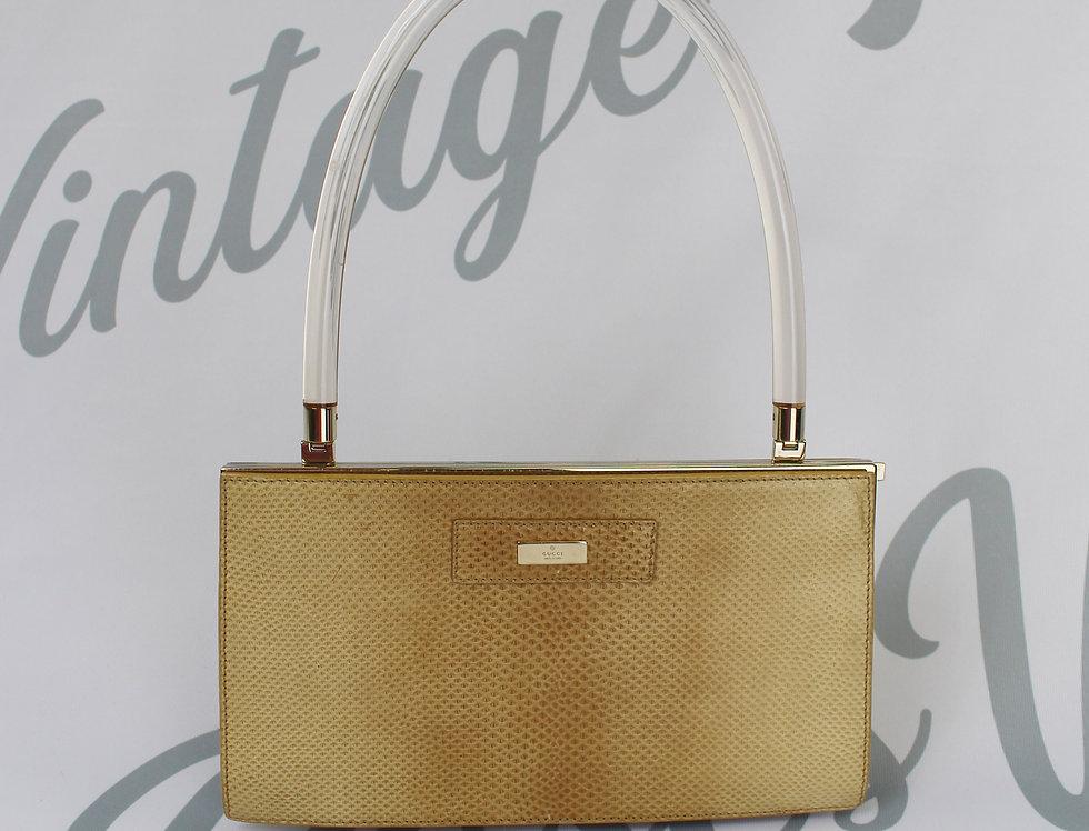 Gucci Python & Lucite Bag Rare