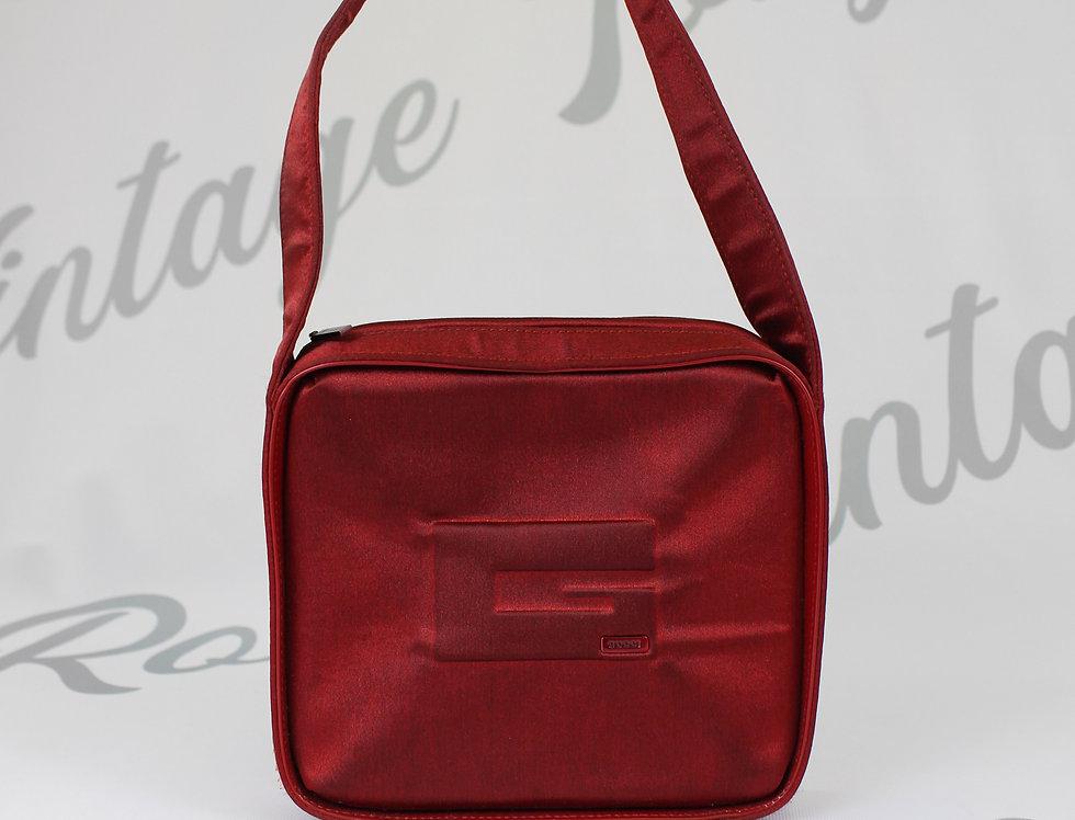Gucci Tom Ford Red Satin Mini Bag logo