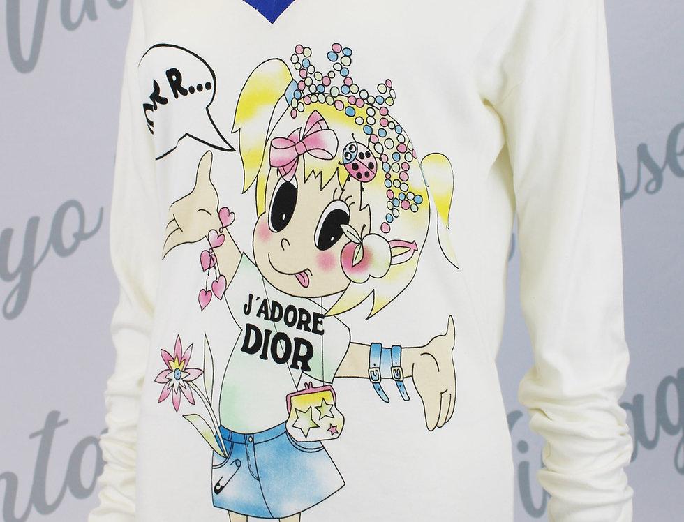 Runway Christian Dior Cartoon J'adore Dior T Shirt