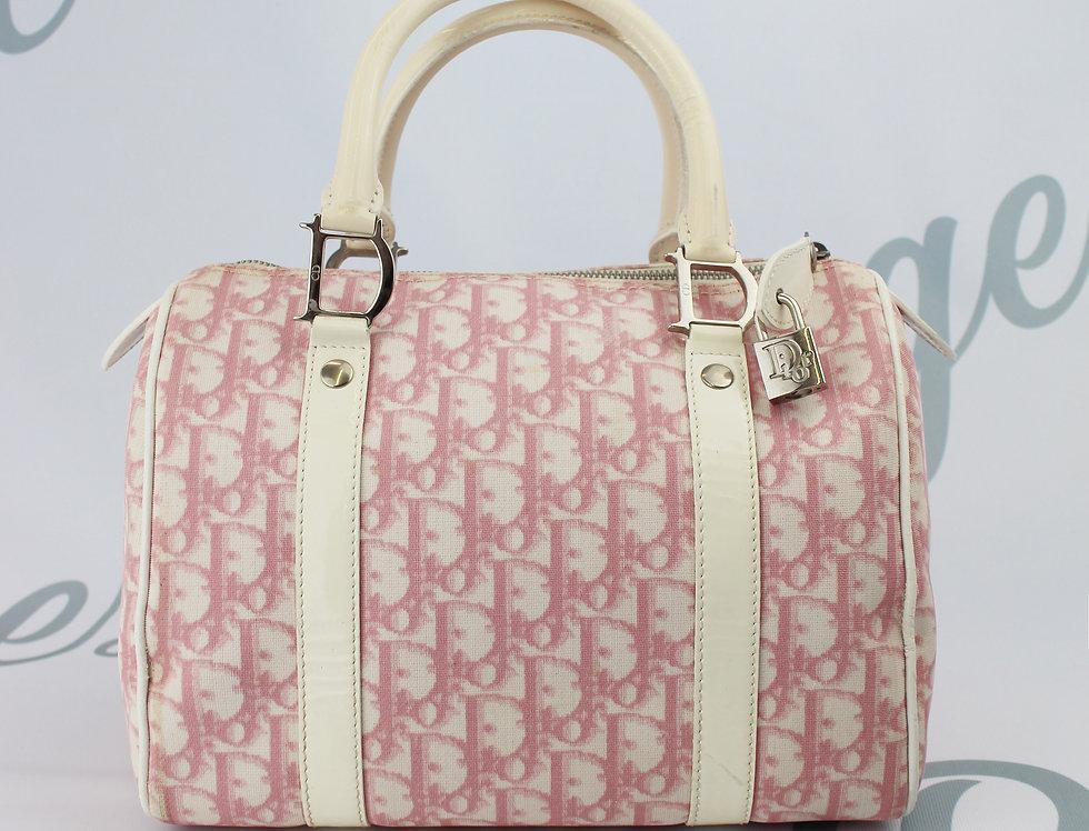 Christian Dior Boston Bag Pink Trotter Oblique Monogram Print