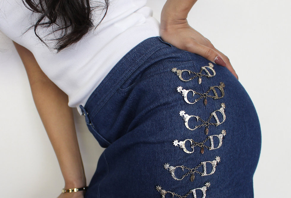 Christian Dior Galliano Western CD Skirt