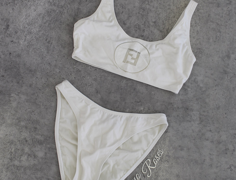 Fendi Mesh Logo Bust Bikini