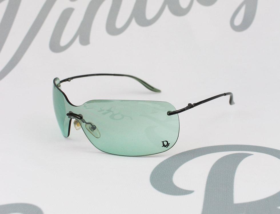 Green Christian Dior Logo Lens Clear Sunglasses