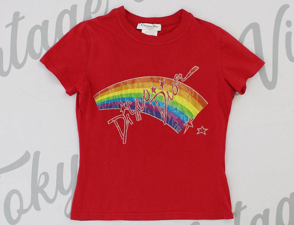 Christian Dior Disco Glitter Shirt Red Top