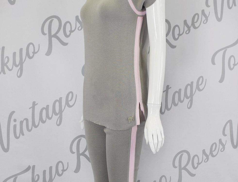 Chanel Pink & Grey Shirt & Pants SET