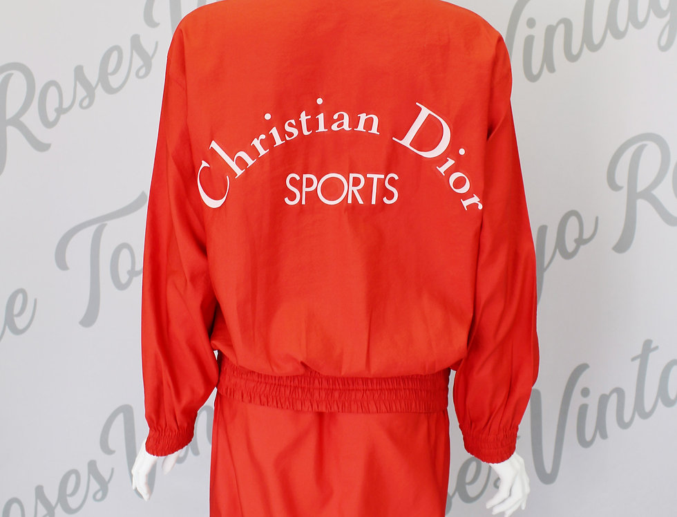 Red Christian Dior Sports Jacket & Skirt Set