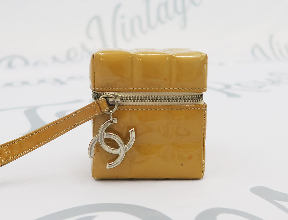 Chanel Quilted Patent Leather Rubik's Cube Wrist Bag