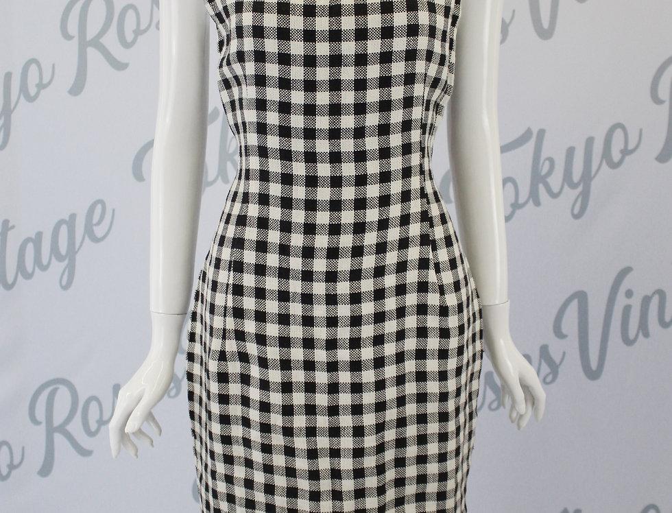 Vintage Gianni Versace Checkered Sleeveless Dress