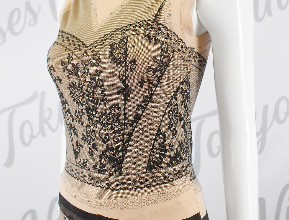 Christian Dior Spring 2006 Lace Look T Shirt