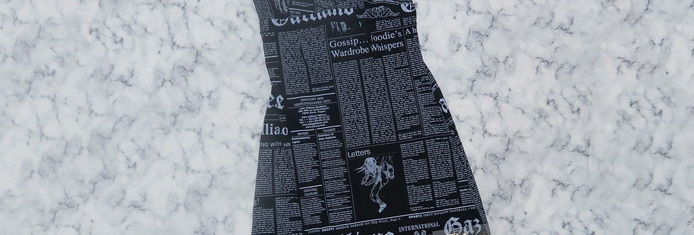 Vintage John Galliano Gazette Newspaper Print Dress