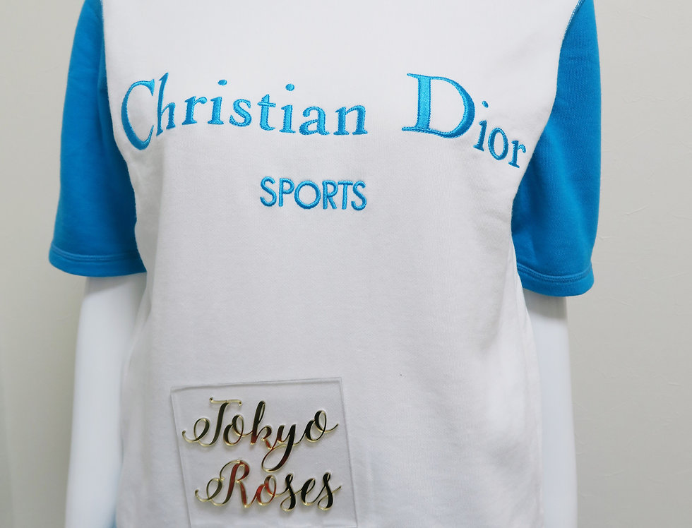 Christian Dior Sports Shirt & Tracksuit Pants SET Blue Logo