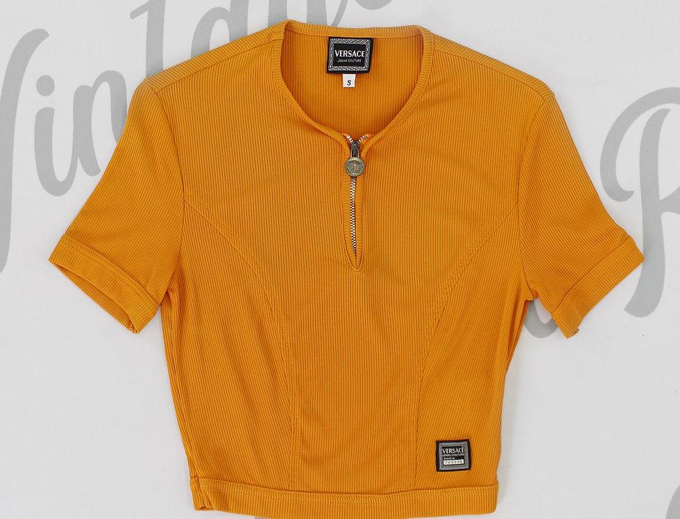 Versace Orange Short Sleeve Top