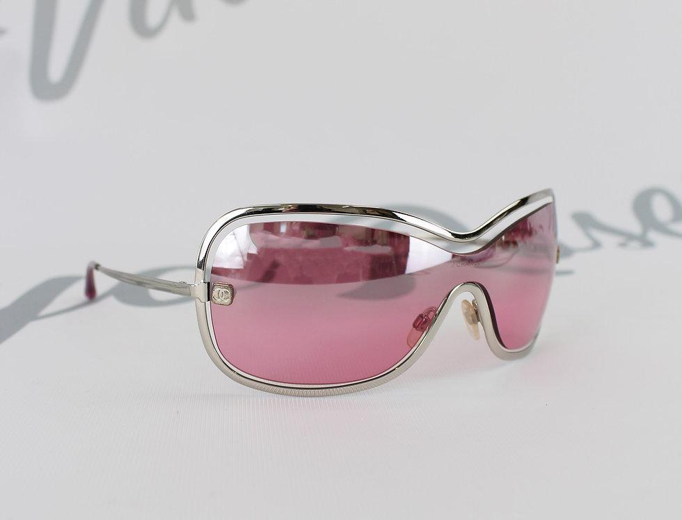 Chanel Pink Floating Frame Shield Glasses